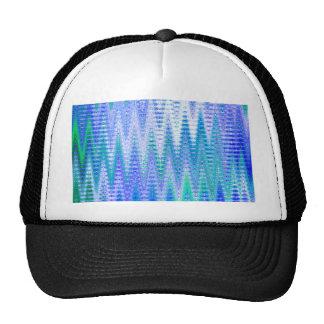 Blue Chevron Abstract Waves Pattern Trucker Hat