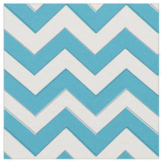 Blue Chevron Fabric, Nautical Chevron Fabric