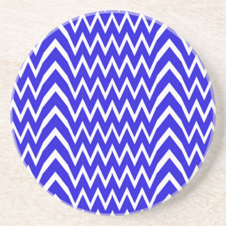 Blue Chevron Illusion Coaster