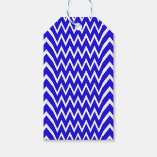 Blue Chevron Illusion Gift Tags