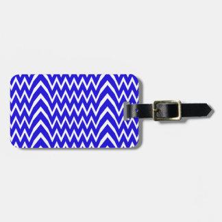 Blue Chevron Illusion Luggage Tag