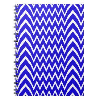 Blue Chevron Illusion Notebooks