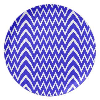 Blue Chevron Illusion Plate