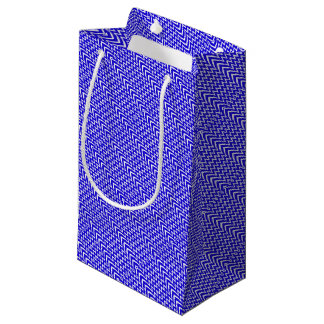Blue Chevron Illusion Small Gift Bag