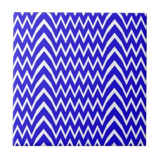 Blue Chevron Illusion Tile