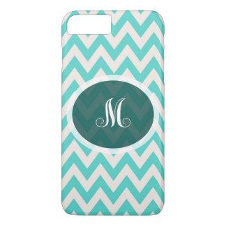 Blue chevron monogram iPhone 7 case