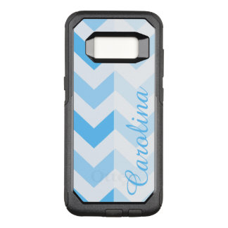 Blue Chevron Name Template OtterBox Commuter Samsung Galaxy S8 Case
