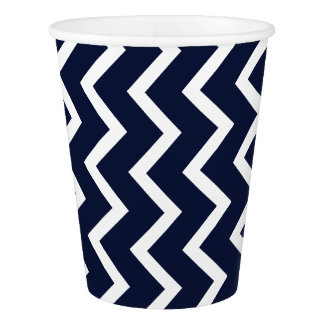 Blue Chevron Paper Cup
