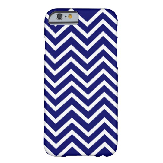 Blue Chevron Pattern Barely There iPhone 6 Case