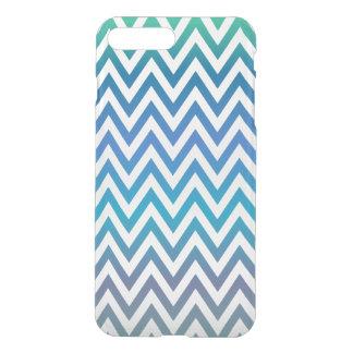 Blue chevron pattern iPhone 7 plus case