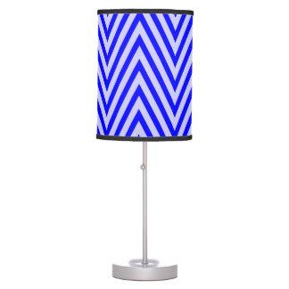 Blue  Chevron Table Lamp