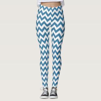 Blue Chevron Yoga pants Stretch Leggings