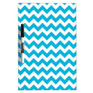 Blue Chevrons Dry Erase Board