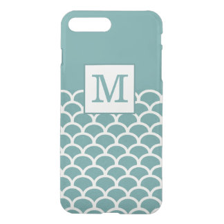 Blue Chic Scales Monogram Case