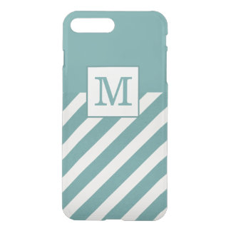 Blue Chic Stripes Monogram Case