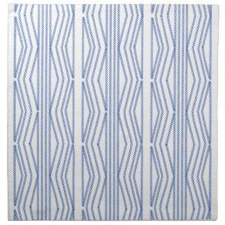 Blue Chick Blue White Cross Stitch Pattern Napkin