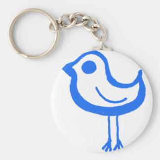 Blue chicken keychain