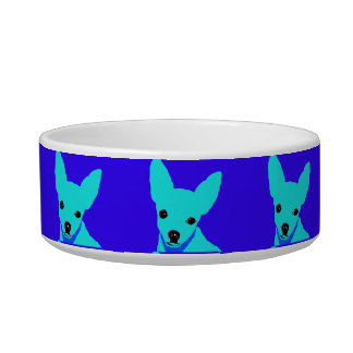Blue Chihuahua Pet Bowl