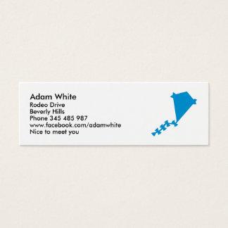 Blue children kite mini business card