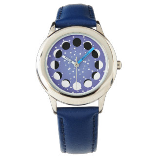Blue Children's Moon Phase Astronomy Watch