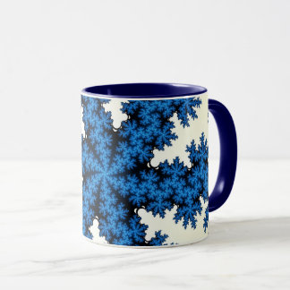 Blue China Snowflake Mug