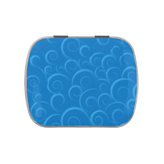 Blue Chinese cloud pattern