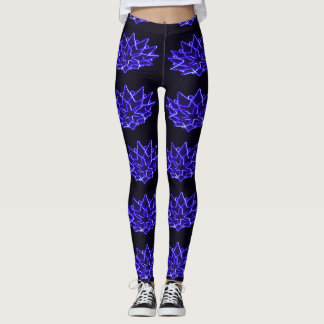 Blue Chinese Lantern Leggings