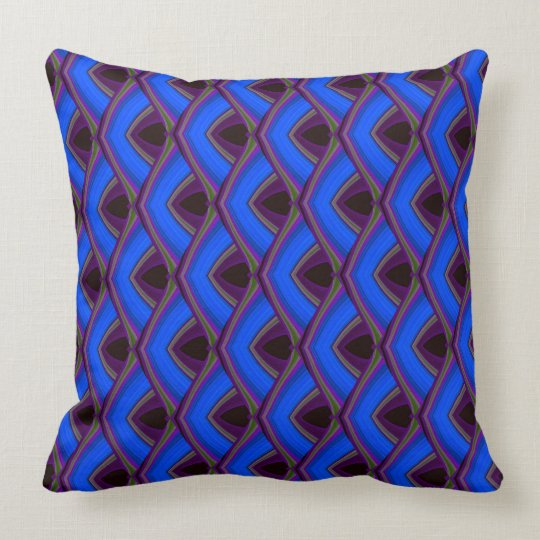 Blue Chips Throw Pillow