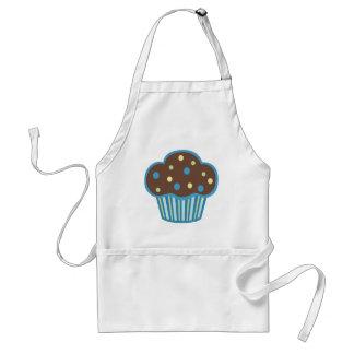Blue Chocolate Cupcake Standard Apron