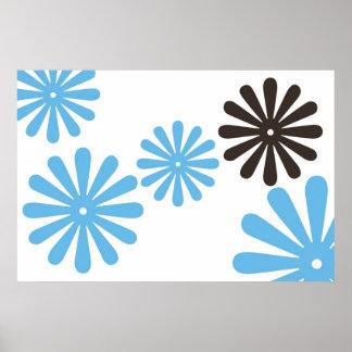 Blue Chocolate Hippy Flower copy Print