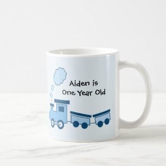 Blue Choo Choo Train Coffee Mug