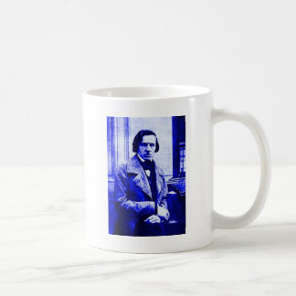 Blue Chopin Coffee Mug