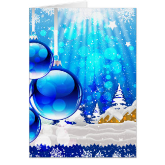 """Blue Chrismas"" Card"
