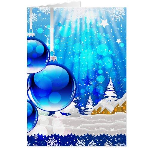"""""""Blue Chrismas"""" Cards"""