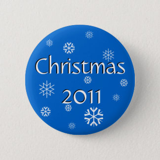 Blue Christmas 2011 2 Inch Round Button