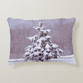 Blue Christmas Accent Pillow
