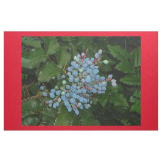 Blue Christmas Berries Cotton Fabric