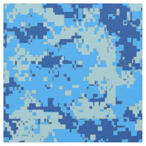 Blue Christmas - Blue Camouflage Fabric