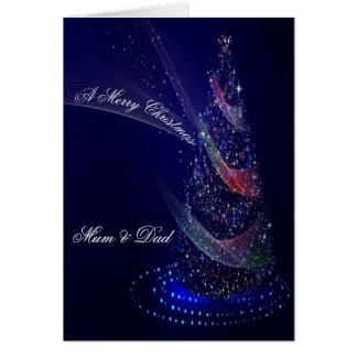 BLUE CHRISTMAS CHRISTMAS CARD