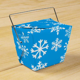 Blue Christmas Cookie Gift Box Favor Boxes