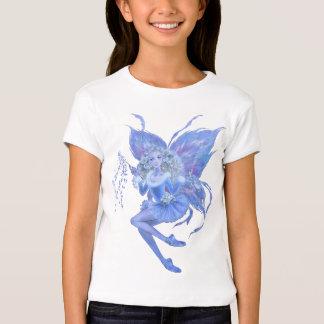 Blue Christmas Fairy Girls T-shirt