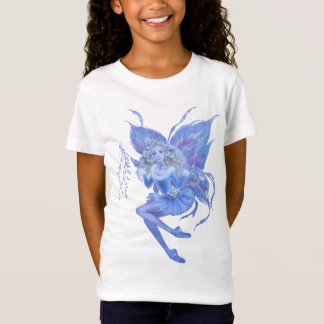 Blue Christmas Fairy Girls T-shirt