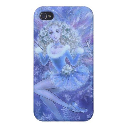 Blue Christmas Fairy iPhone 4/4S Case
