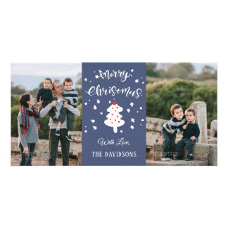 Blue Christmas Family Card