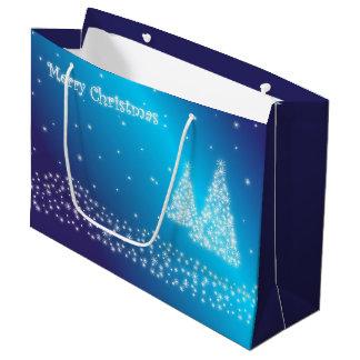 Blue Christmas Large Gift Bag