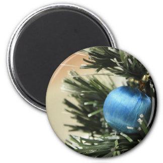 Blue Christmas Refrigerator Magnet