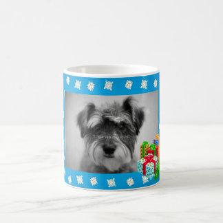 Blue Christmas Snow Photo Frame Coffee Mug