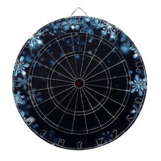 Blue Christmas Snowflakes Background Dartboard