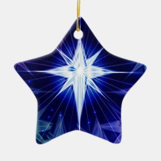 Blue Christmas star Ornament