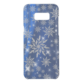 Blue Christmas stars with white ice crystal Uncommon Samsung Galaxy S8 Plus Case